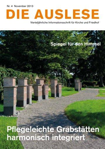 Pflegeleichte Grabstätten harmonisch integriert - die auslese
