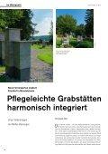 Pflegeleichte Grabstätten harmonisch integriert - die auslese - Page 4