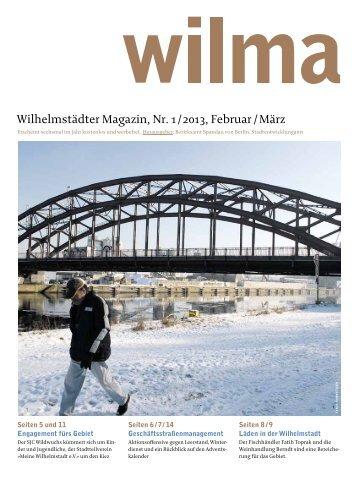 Wilhelmstädter Magazin, Nr. 1 / 2013, Februar / März