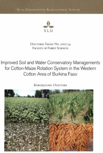 Improved soil and water conservatory managements for ... - BEEP