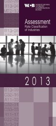 Rate Classification of Industries 2013 - Workers' Compensation Board
