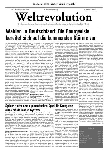 Wahlen in Deutschland - Internationale Kommunistische Strömung