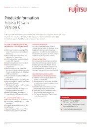 Produktinformation Fujitsu FTSwin Version 6