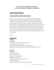 Syllabus - The College of Surgeons of Hong Kong