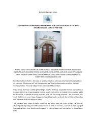 Bismillahi Rahmani Rahim CLARIFICATIONS OF ...