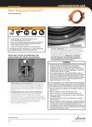Starre Kupplung Firelock EZ™ I-009H/009/009V-GER - Victaulic