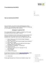 Velkomstbrev hold PHS13 - VIA University College