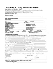 Here's our 2013 Slip Contract - Bemidji Marina