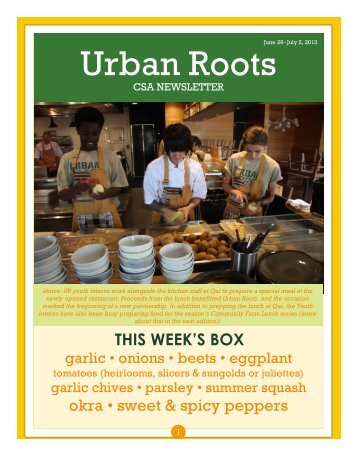 CSA Newsletter - Urban Roots Austin