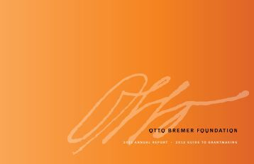 2011 annual report - Otto Bremer Foundation