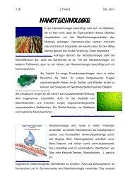 Nanotechnologie Nanotechnologie - physik-aktiv
