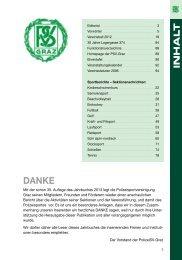 Jahrbuches 2013 - Polizeisportvereinigung Graz