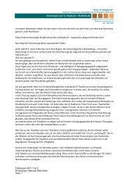 Fallbeispiel 2 - Kinesiologie nach Dr. med. Dietrich Klinghardt
