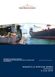 Collision on 6 July 2010 - Danish Maritime Authority