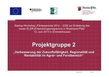 Folien IfLS Projektgruppe 2 - eler-paul - in Rheinland-Pfalz
