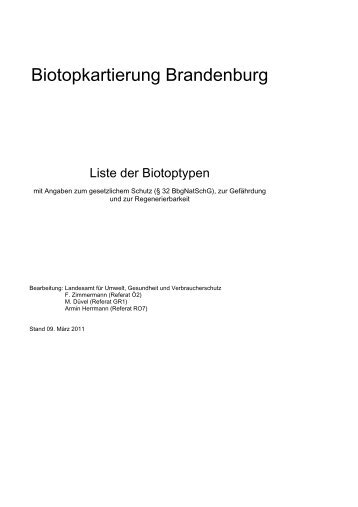 Liste der Biotoptypen - Landesamt für Umwelt, Gesundheit und ...