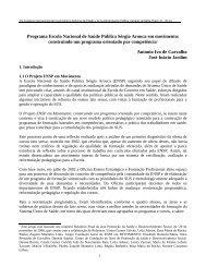 Relatório Final da área Promoção da Saúde e ... - siare - CLAD