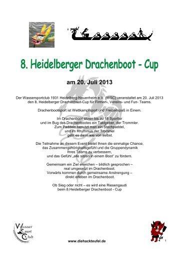 8. HD Drachenboot-Cup 2013 - Heidelberger Drachenbootcup