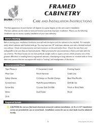 Dura Supreme Care Guide - KSI Kitchen and Bath