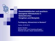 Armin Hardes, Stadt Gelsenkirchen - Gemeinsam fürs Klima