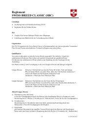 Reglement - Zuchtverband CH Sportpferde