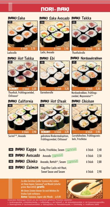 MAki Avocado Avocado - Happy-Sushi