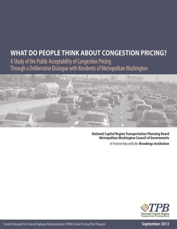 What Do People Think About Congestion Pricing? - Metropolitan ...