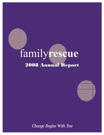 Download our Annual Report - Family Rescue