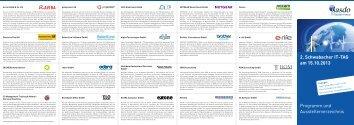 2. Schwabacher IT-TAG am 15.10.2013 Programm und ... - nasdo AG