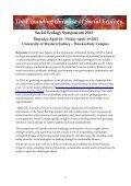 Social Ecology Symposium - University of Western Sydney - Page 3
