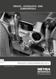 Preisliste 2013 - MEYRA-Ortopedia-Shop bei ppm-marburg