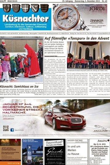 Küsnacht: Auf filmreifer «Tonspur» in den Advent - Lokalinfo AG