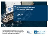 The Danger of Duration in Investor Portfolios - Pioneer Investments