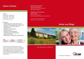 Flyer 2014 - Urlaub und Pflege