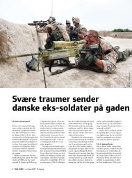 Svære traumer sender danske eks-soldater på gaden - Hus Forbi