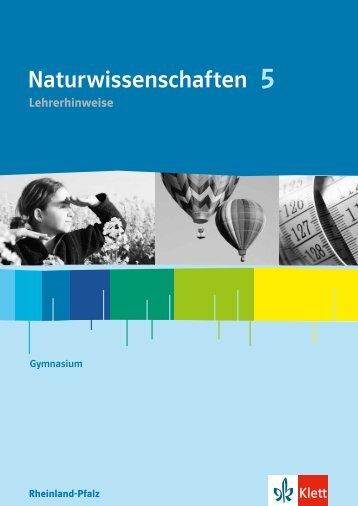 Naturwissenschaften 5 - Ernst Klett Verlag