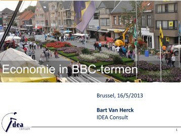 Economie in BBC-termen - VVSG