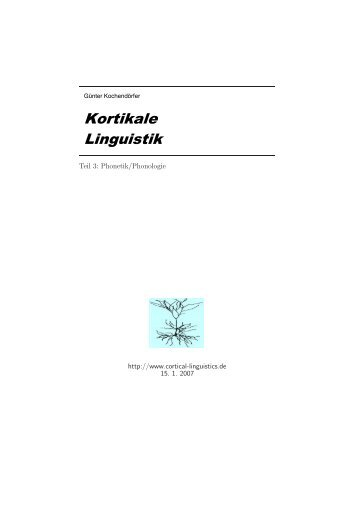 Phonetik/Phonologie - cortical linguistics