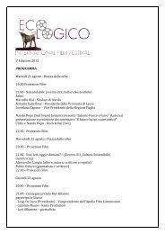 V Edizione 2012 - Ecologico International Film Festival