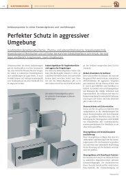 Perfekter Schutz in aggressiver Umgebung - Binkert Medien AG