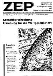 Erziehung fü die Weltgesellschaft - Lehrstuhl für Allgemeine ...