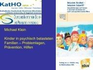 Vortrag Prof. Klein - Kinder in psychisch belasteten ... - skm-koeln.de