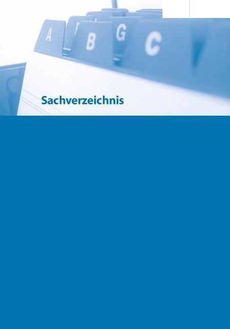Sachverzeichnis - Springer