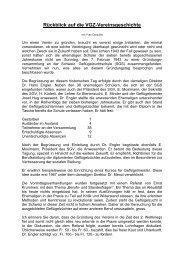 Rückblick auf die VGZ-Vereinsgeschichte - Aviforum