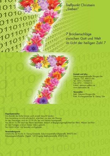 Gesamtprogramm - Dekanates Ehingen-Ulm