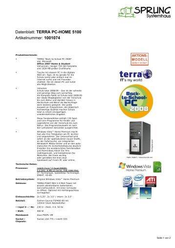 datenblatt terra pc home 6000 artikelnummer ch1001084. Black Bedroom Furniture Sets. Home Design Ideas