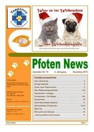 Pfoten News Dezember 2013 - Hundehilfe Nordbalaton e.V.
