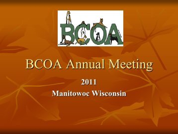 BCOA Annual Meeting Presentation - the Basenji Club of America