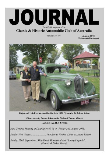 August 2013 - Classic and Historic Automobile Club of Australia