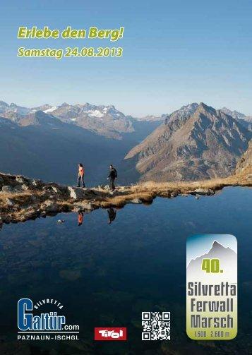 Folder Silvretta Ferwall Marsch (PDF-Download) - Galtür